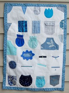 Pocket quilt along with a tutorial for every pocket imaginable...