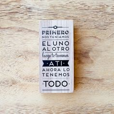 """Sello """"Ahora lo tenemos todo"""". Se vende en: www.mrwonderfulshop.es #sello #stamp #DIY"""