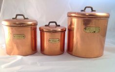 Set of three Shabby Copper colored vintage metal by rediscoverd, $34.00