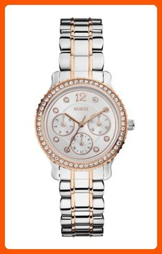 GUESS Women's U0305L3 Multi-Function Two Tone Watch in Silver & Rose Gold-Tones - All about women (*Amazon Partner-Link)