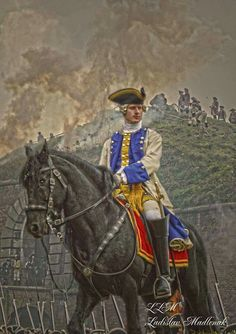 Austro-Hungarian officer of the Army of Empress Marie Theresa 1757