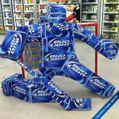 The Budweiser Goalie -- Never one short of a six pack!