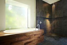 Rustic yet elegant bath Master Suite, Sweet Home, Bathtub, Rustic, Cool Stuff, House, Home Decor, Aquascape, Vestidos