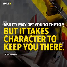 Wise words from Wooden. Athlete Motivation, Monday Motivation, Game Day Quotes, You Got This, Take That, Train Hard, Strength Training, Wise Words, Motivational Quotes