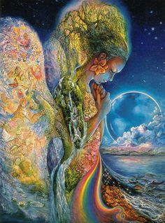 Compassion is the ultimate and most meaningful embodiment of emotional maturity. It is through compassion that a person achieves the highest peak and the deepest reach in his or her search for self-fulfillment. ~  Arthur Jersild  Beautiful art is 'Sadness of Gaia' by Josephine Wall.  Peace and Love to all - Jeff ♥