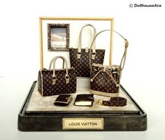 LV No5 Ooak Designer Handbags Purse decorating by DollhouseAra