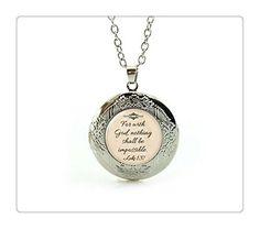 Jewelry Christian Medaillon Halskette Faith
