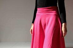 Tutorial how to sew half-round skirt Waist Skirt, High Waisted Skirt, Sewing, Skirts, Clothes, Tutorials, Women, Fashion, Moda
