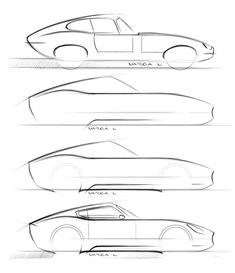 Jaguar E-Type Concept - Design Sketches