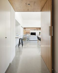 Designed by Bower Architecture, this modern house is located in Elsternwick, Melbourne. The house, modern and bright, impresses the viewer with its neat a Canopy Bedroom, Door Canopy, Canopy Tent, Ikea Canopy, Hotel Canopy, Beach Canopy, Fabric Canopy, Canopy Lights, Front Door Entryway