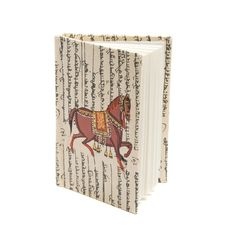 Eco-friendly hardcover horse journal.