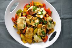 Halloumi with Bell Peppers, Carrots, Capers and So Much Other Good Stuff | Things I Made Today