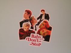 NCT U Stickers Baby Don't Stop | Etsy