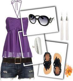 """""""Splash of Purple"""" by pyroprincess on Polyvore"""