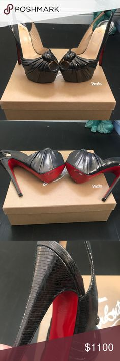 e57f6d1d226 Replacement heels and 2 dust bags included Christian Louboutin Shoes Heels