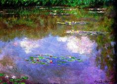 Claude Monet - Water Lilies, 1903. Oil on canvas, 74.6 x 105.3 cm. Private Collection
