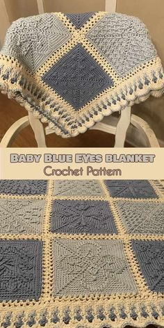 Crochet Afghans FREE Baby Blue Eyes Stardust Melodies CAL Squares you can find similar pins below. Crochet Baby Blanket Borders, Crochet Afghans, Crochet Motifs, Crochet Granny, Free Crochet, Crochet Summer, Crochet Blankets, Crochet Eyes, Ravelry Crochet