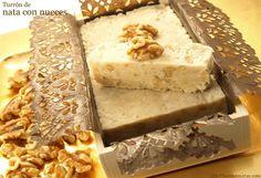 Turrón de nata con nueces - MisThermorecetas.com Cream Cheese Flan, Thermomix Desserts, Decadent Cakes, Holiday Festival, Cake Cookies, Cheesecake, Candy, Sweet, Christmas Recipes