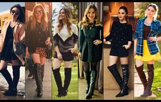 Botas over the knee para baixinhas