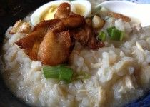 Arroz Caldo, Filipino Chicken and Rice Porridge, from The Adobo Road by Marvin Gapultos