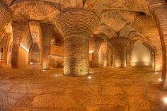 Basement of a house designed by Gaudi.