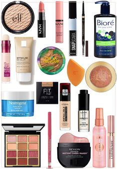 The 23 Favorite Drugstore Products Katie Swears By NYX Butter Lipstick<br> Including her favorite affordable dupes. Drugstore Eyeliner Liquid, Best Drugstore Makeup, Best Makeup Products, Beauty Products, Drugstore Foundation, Cool Products, Drugstore Lipstick Dupes, Mascara Tips, Nyx Butter Lipstick