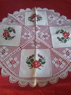 Free Crochet Doily Patterns, Crochet Lace Edging, Crochet Borders, Thread Crochet, Crochet Doilies, Border Embroidery Designs, Christmas Embroidery Patterns, Embroidery Patterns Free, Embroidery For Beginners