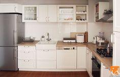 Mobilă de bucătărie cu front din MDF alb - Insidecor