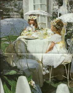 Little Girl Tea Party Ideas | Every little girl is dressed in her heirloom dress and given a flower ...