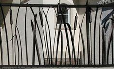 of Deck Railing Ideas and Designs Metal Deck Railing, Steel Railing, Deck Stairs, Balcony Railing, Porch Railings, Iron Railings, Railing Design, Railing Ideas, Rustic Deck