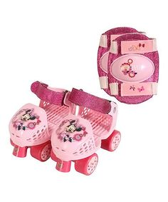 Disney's Minnie Mouse Junior Roller Skates & Knee Pads