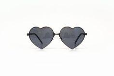 Óculos de sol coração preto