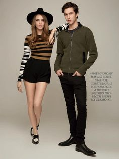 Cara Delevingne & Nat Wolff in the latest issue of Glamour Russia (August 2015)