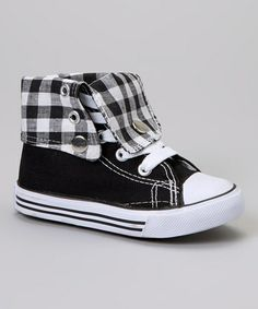 Starting to shop for the boys....Take a look at this Black & White Classic Hi-Top by Collection'O on #zulily today!