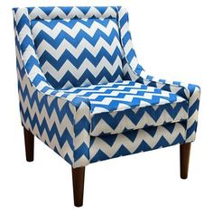 Blue Chevron Chair.