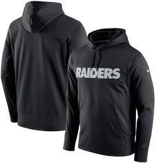 06ce797b2 Men s Oakland Raiders Nike Black Circuit Wordmark Essential Performance Pullover  Hoodie