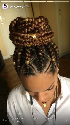 40 Big Box Braids Styles | Hair | Pinterest | Big box braids, Box braids styling and Box