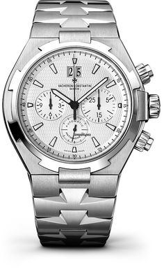 Vacheron Constantin Overseas Chronograph - nearly new for OR 5000; it can be done! The older one is always around for that price, but doesn't have this cool guilloche dial. This one, the newer 42mm one, white dial, this price..yes please.