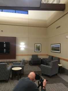Main waiting area at the new CHI Health Clinic.
