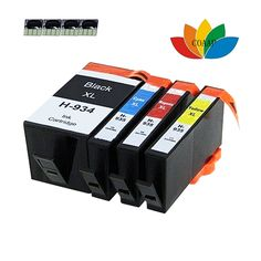 4 pack Compatible 934 935 XL 934XL 935XL Ink Cartridges For HP HP934XL HP935XL Officejet 6815/6830/6812 e-All-in-One Printer Ink
