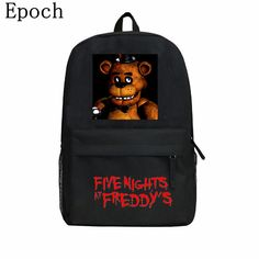 Check current price Epoch 2016 New Game Five Nights At Freddy's Backpacks For Children Freddy Chica Foxy FNAF Cartoon School Backpack Favourite Bags just only $16.99 with free shipping worldwide  #backpacksformen Plese click on picture to see our special price for you