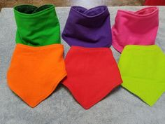 Set of 6 bright colored preschool bibdanas large toddler bibdanas Flannel and Terry Cloth No lining Sensory Chewer bib Solid color bibs Toddler And Baby Room, Purple Flannel, Adult Bibs, Burp Cloths, Baby Hats, Bright Colors, Preschool, Infants, Collaboration