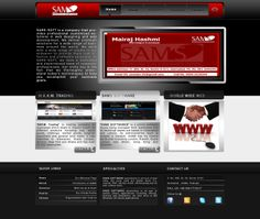 Web template for SAMS SOFTWARE's Profile
