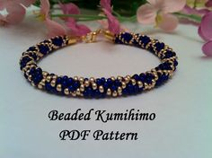 Beaded Kumihimo PDF pattern tutorial bracelet necklace grid