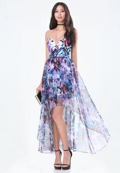 Strapless Hi-Lo Dress #BeBe