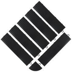 Gladiator GarageWorks GAFA06MEPB 6-Piece and 1 Corner Black Edge Trim Male