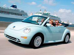 Blue Punch Bug Beetle Car Volkswagen Beetles Vw Convertible