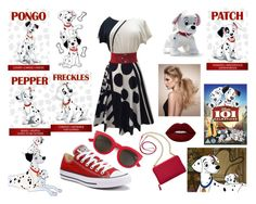 """101 Dalmatians"" by riley-motes on Polyvore featuring Disney, Converse, Lime Crime, TravelSmith and Yves Saint Laurent"