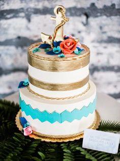 10 Nautical Wedding Cakes {Too Pretty, you may not want to Eat!) - KnotsVilla