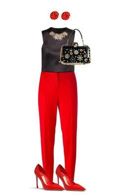 """""""Red classic..."""" by natozurabovna ❤ liked on Polyvore featuring Boutique Moschino, Ted Baker and Dolce&Gabbana"""